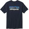 Patagonia M's P-6 Logo Cotton T-Shirt Navy Blue